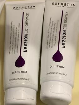 2 Tubes of Alter Ego Italy Passion Color MIRTILLO Hair Mask