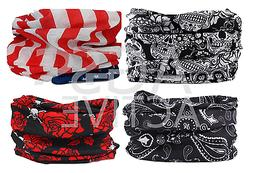 4pc Headband Hair Band Headwrap Face Mask Bandana Neck Shiel