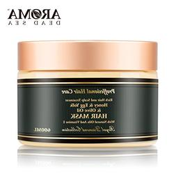 Aroma Premium Hair Mask - 600ml, Honey Egg Yolk Olive Oil Dr