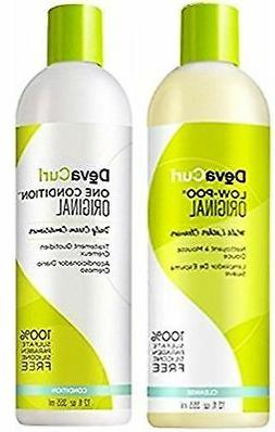 DevaCurl Low-Poo Original 12oz + One Condition Original 12oz