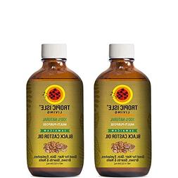 "Sunny Isle Jamaican Black Castor Oil 4oz ""Pack of 2"" w/Appli"
