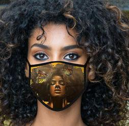 Beauty Curly Hair with Butterfly Cloth Face Mask, Fast shipp