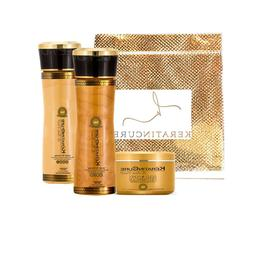 Keratin Cure Sulfate Free Gold & Honey Shampoo Conditioner D