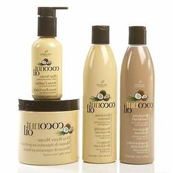 coconut oil hair care 4 piece set