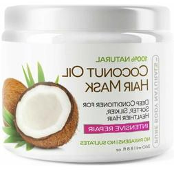 Pure Body Naturals Coconut Oil Hair Mask 8.8 oz New In Packa