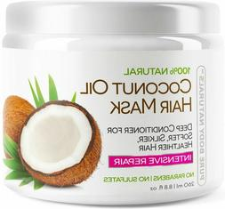 Pure Body Naturals Coconut Oil Hair Mask 8.8 oz