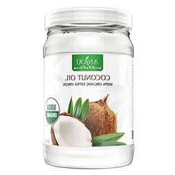Coconut Oil 32 oz, Anjou Organic Extra Virgin, Gluten Free,