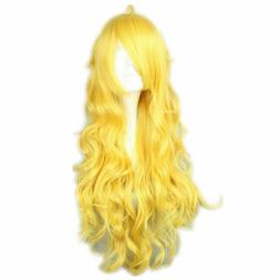 COSPLAZA Cosplay Wigs Long Curly Wavy Long Yellow Lovely Ful