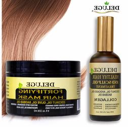 Fortifying Hair Mask & Healthy Hair and Scalp Oil Treatment