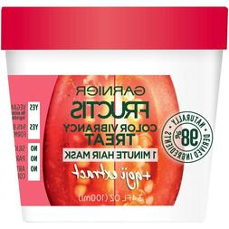 Garnier Fructis Color Vibrancy Treat 1 Minute Hair Mask, 3.4