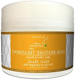 Nature Lush Hair Mask with Honey, Aloe Vera & Olive Oil –