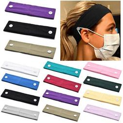 Headband With Button For Mask Usage Sports Yoga Hair Band Wr
