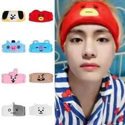 kpop bts bt21 v same headband cotton