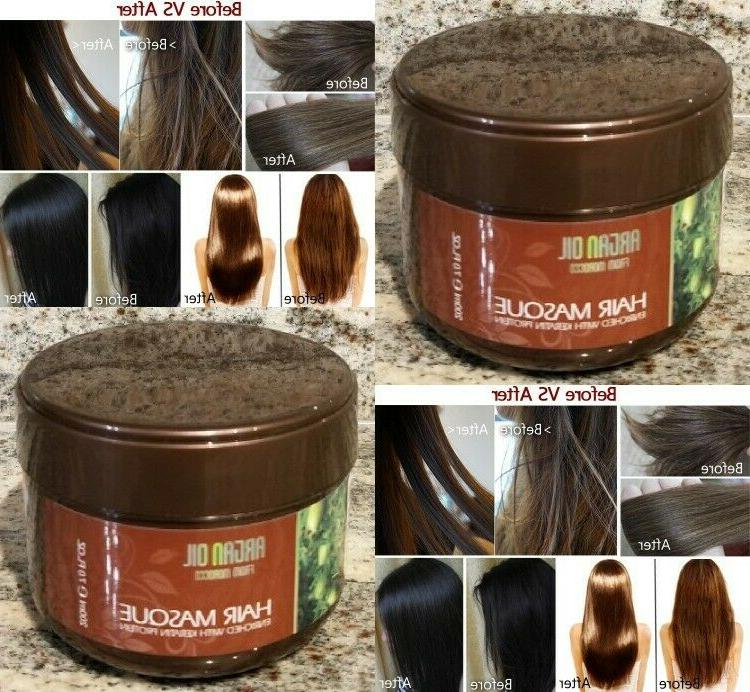 1 Jar ARGAN OIL KERATIN PROTEIN HAIR MASK-200ML-7FL.0Z