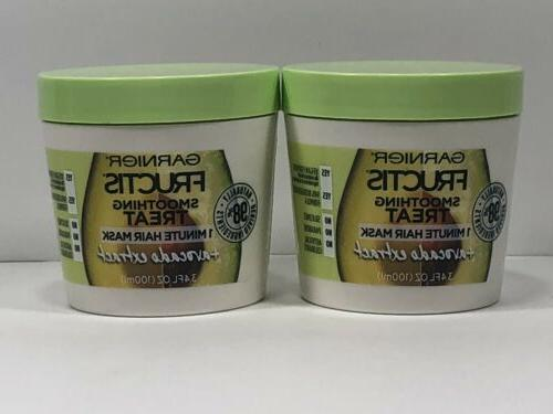 2 garnier fructis smoothing treat 1 minute