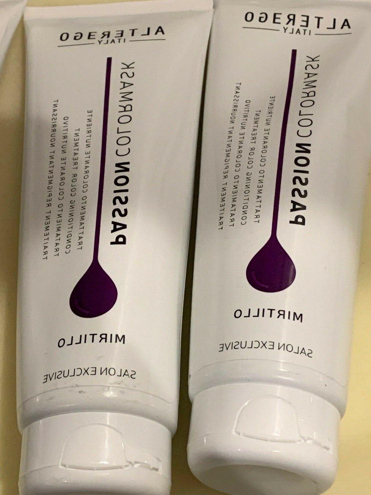 2 tubes of italy passion color mirtillo