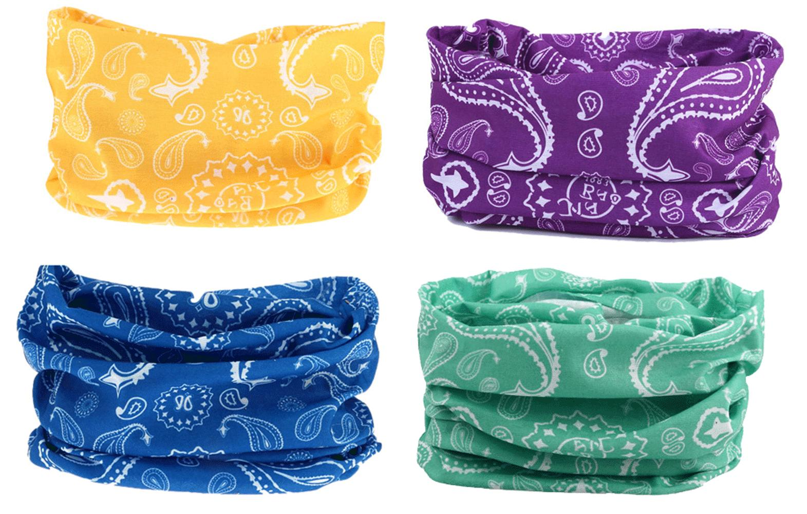 4pc paisley headband hair band headwrap face