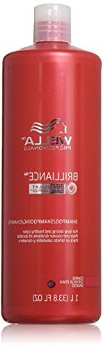 Wella Brilliance Shampoo for Long Lasting and Healthy Color,