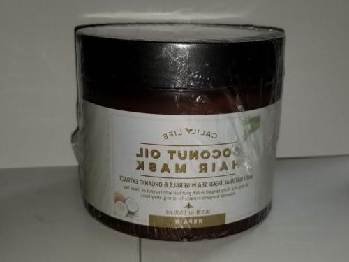 calily life organic coconut oil hair mask