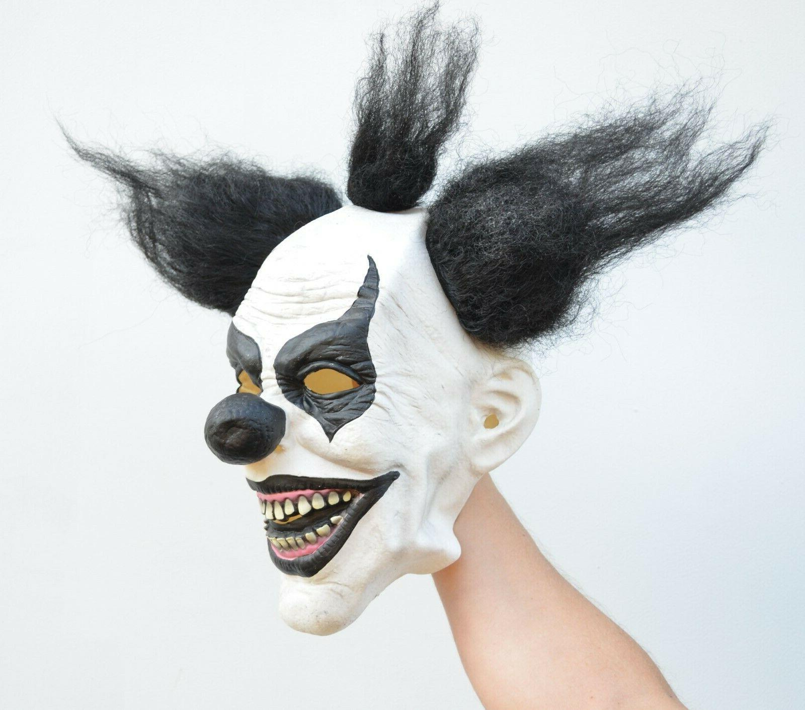 Scary Halloween Clown with Black