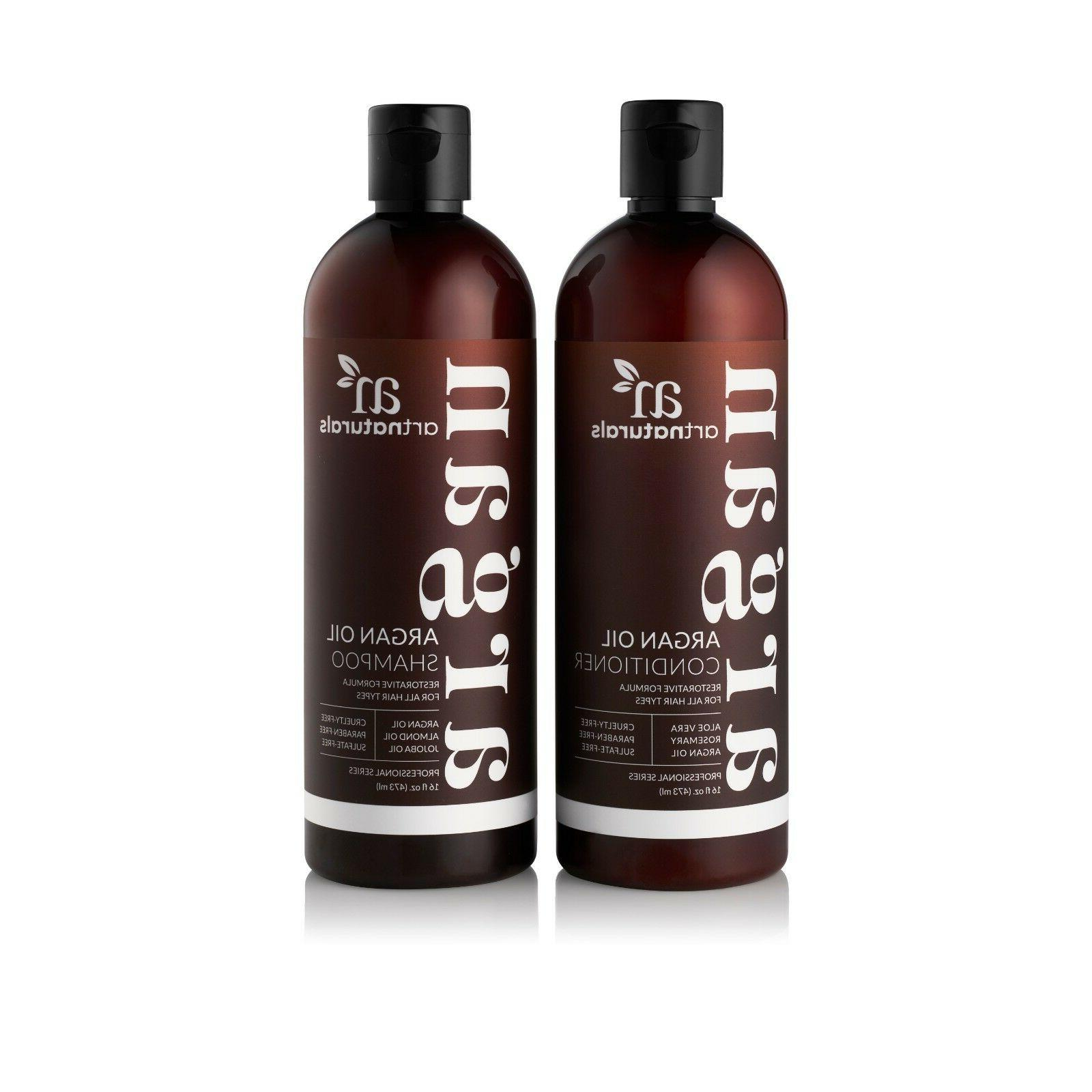 natural argan oil shampoo and conditioner collection