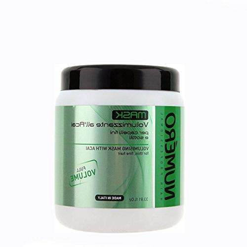 numero volumising mask with acai for thin