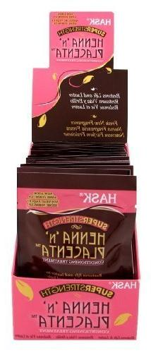 Hask Placenta & Henna Packettes 2 oz.  Super Strength
