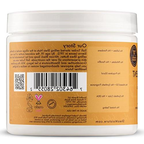 Shea Butter Deep Treatment Masque, 16 Fl Ounce | Jamaican Black Castor Oil Strengthen and Leave-In Conditioner,