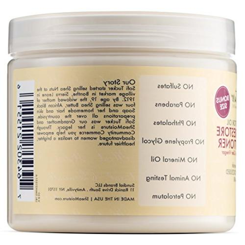 Shea Butter Powerful Duo, Ounce | Moisture Jamaican Black Strengthen and Grow Conditioner,