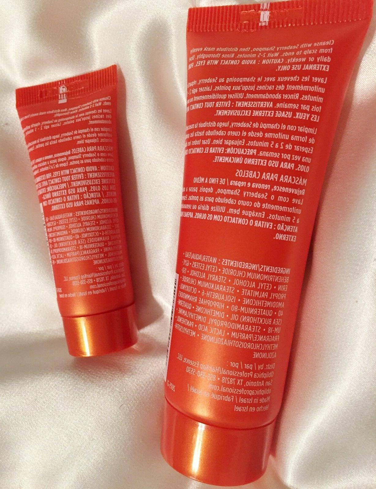 Sealed New Seaberry HAIR MASK treatment Fine to Medium +Travel