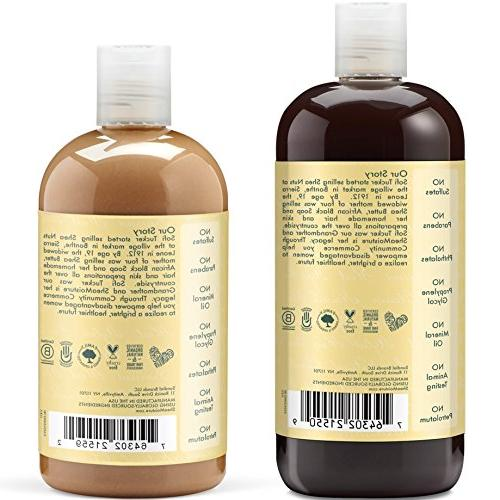 Shea Moisture & Includes - 16.3 Jamaican Black Shampoo Leave-In Conditioner 13 Ounce Ounce