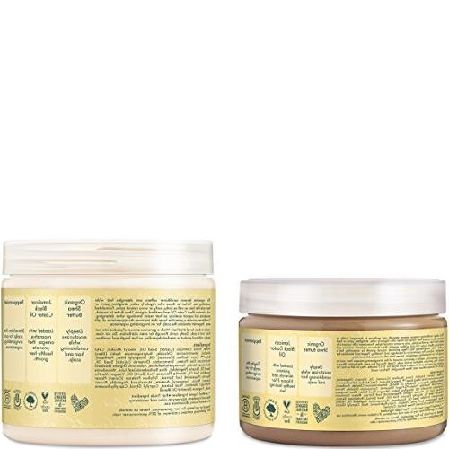 Shea Grow & Restore Combo Includes - Jamaican Shampoo 16 Leave-In Conditioner 13 Ounce Conditioner | Ounce Treatment