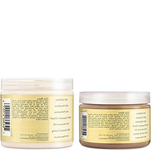 Shea Strengthen & Restore Includes - 16.3 Ounce Shampoo | Ounce Leave-In Conditioner 13 Ounce