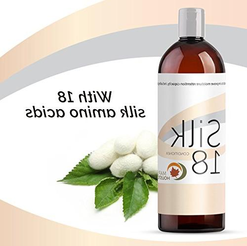 Silk18 Natural Conditioner Argan Treatment Dry and Damaged Acids Jojoba Keratin All Types Women & Safe Hair