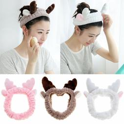 Mask SPA Women Elastic Headband Makeup Hair Band Cute Antler