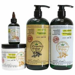 Natures Spirit Argan Oil Shampoo,Conditioner, Hair Mask and