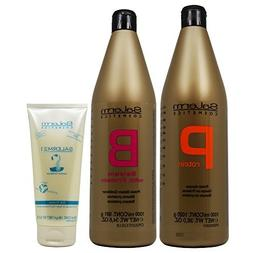 Salerm Protein Shampoo 1000ml + Balsam Conditioner 1000ml +