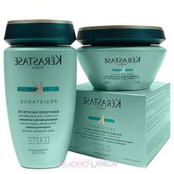 Kerastase Resistance Bain De Force Shampoo 8.5 and Masque Fo
