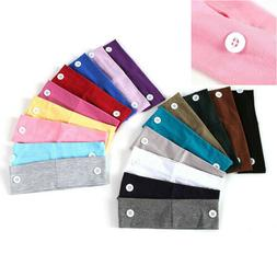 Sweatband Hair Band For Masks Wrap With Buttons Usage Yoga H