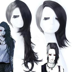 Tokyo Ghoul Uta Mask Maker Wavy Black and Silvery Cosplay Wi