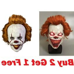 US Ship Pennywise Joker Mask It Chapter Two 2 Horror Clown H