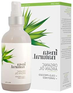 Virgin Argan Oil For Hair, Face, Skin & Nails -Huge 4 Oz bot
